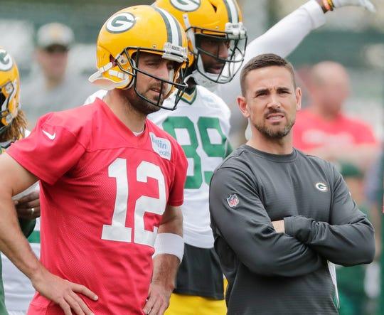 Packers head coach Matt LaFleur and quarterback Aaron Rodgers