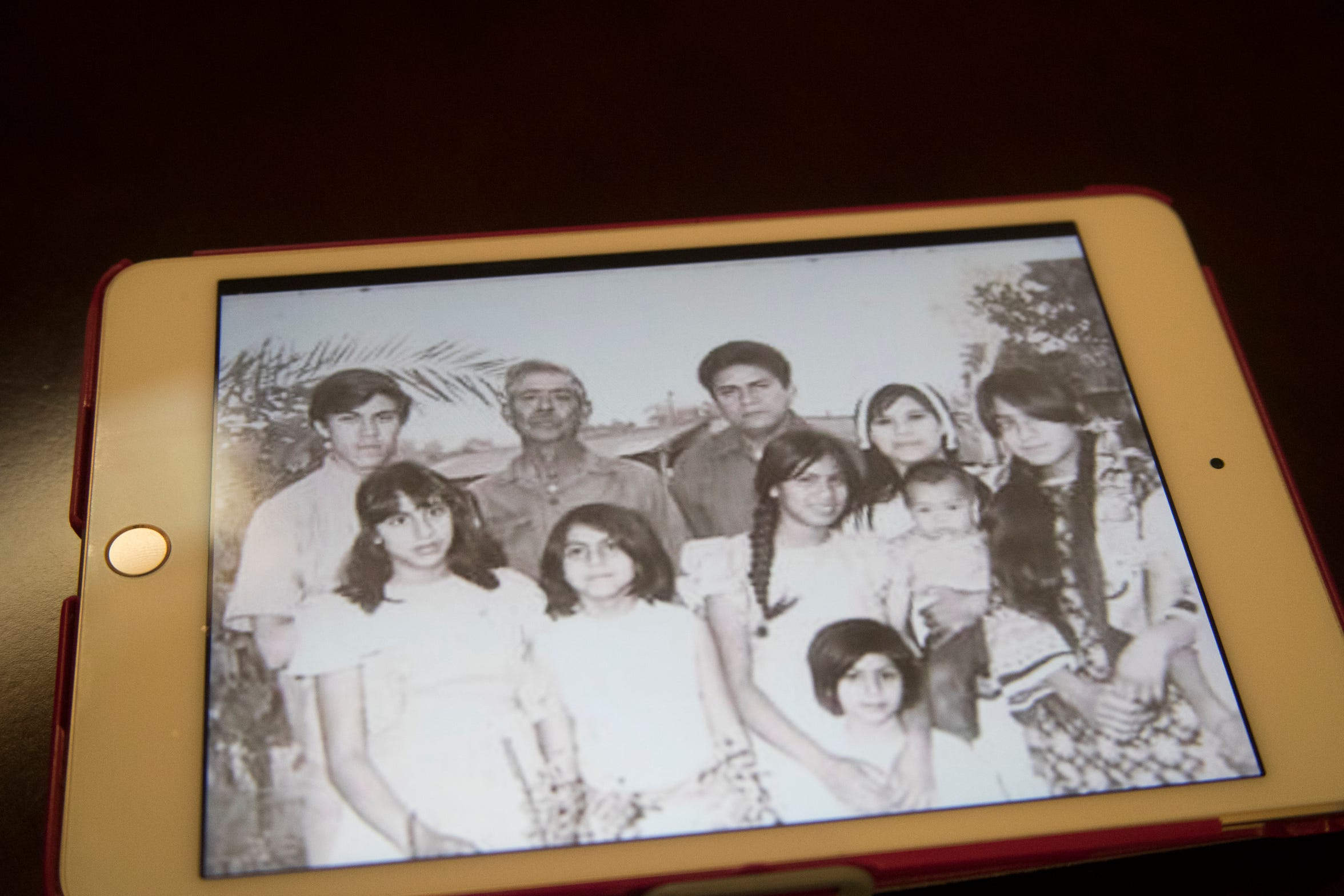 Librado Cardenas Zazueta died along with 18 others in an accident aboard a farmworker bus en route to Blythe on January 15, 1974. Here he is pictured with his family.
