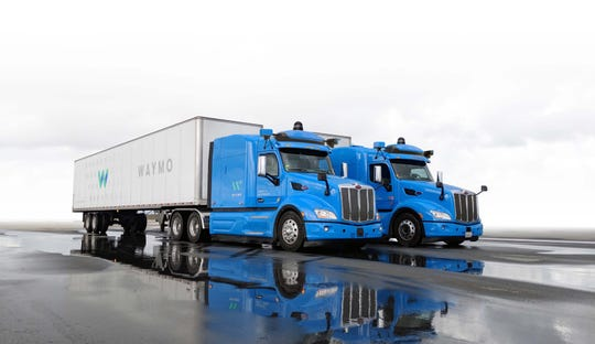 Waymo self-driving semitrucks.
