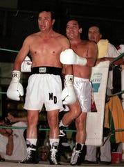 Mario Díaz (izq.) fue un referente del peso puma de su generación.