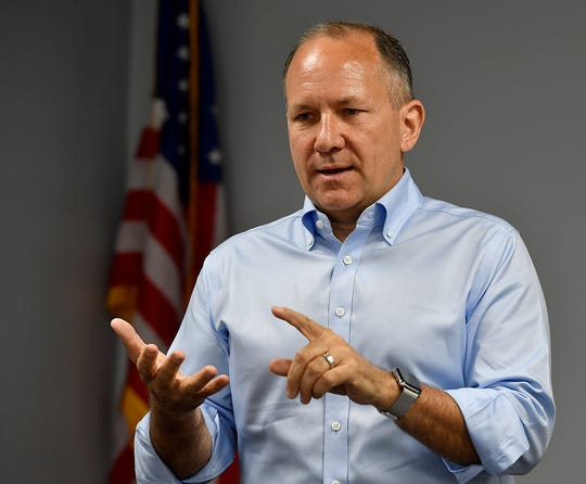 Congressman Lloyd Smucker visits the new Bailey Coach headquarters on Route 116 in Spring Grove, Thursday, May 29, 2019.