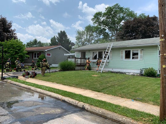 Crews responded to a fire in the 800 block of Gunnison Road Wednesday, May 29. Christopher Dornblaser photo.