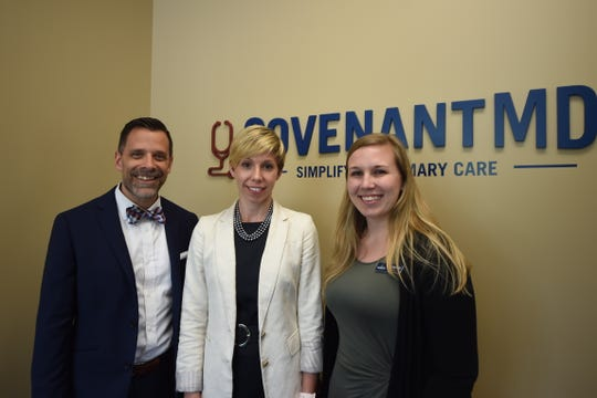 Left to right: Dr. Patrick Rohal, Dr.Stacey Denlinger and Ann Entwisle of Covenant MD. The facility is located at 2811 N. George St. in York offers patients direct primary care.