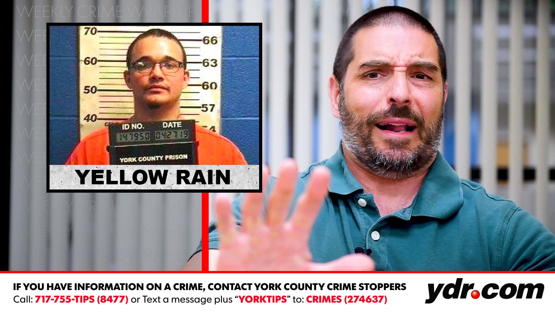 Weekly Crime Wrap-Up: 'Yellow rain'