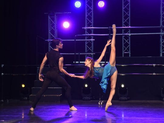 "David Huffmire and Nora Clemente perform in ""Vortex."""