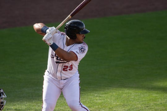 Yasmany Toma sis batting .302 with the Reno Aces.