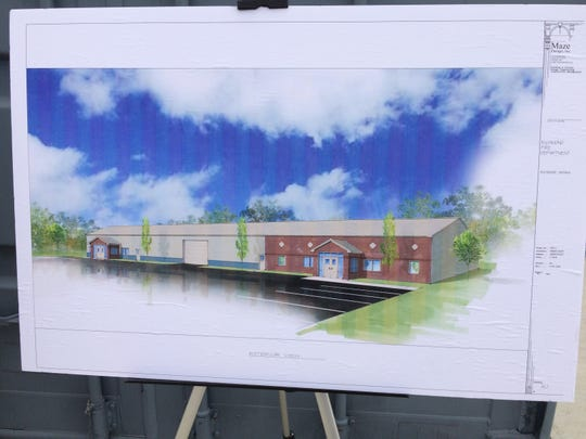 "An architect's drawing of a planned building for the Israel ""Izzy"" David Edelman Training Center."