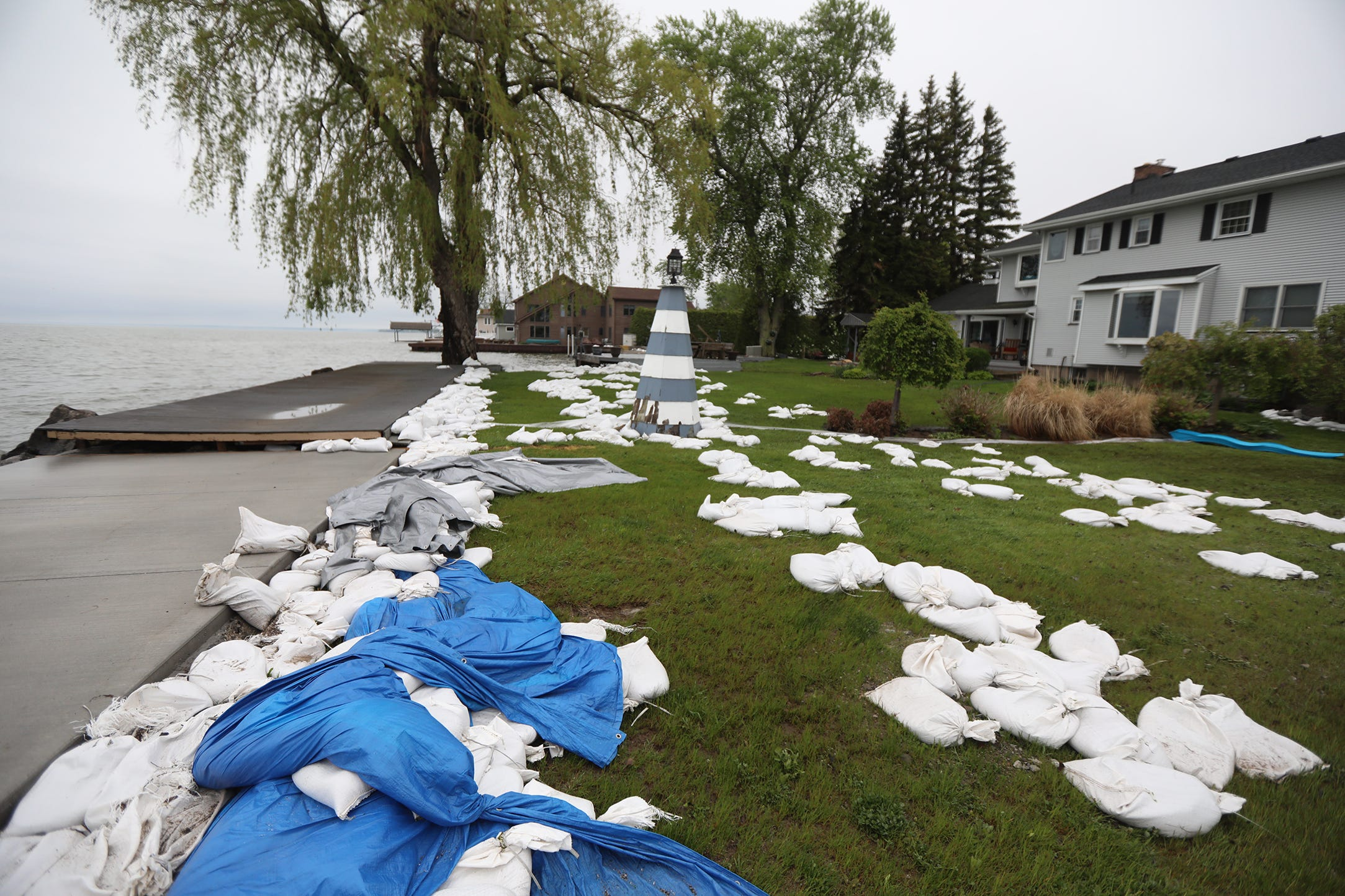 Edgemere Drive flooding: 'This is the leftovers from yesterday's event'