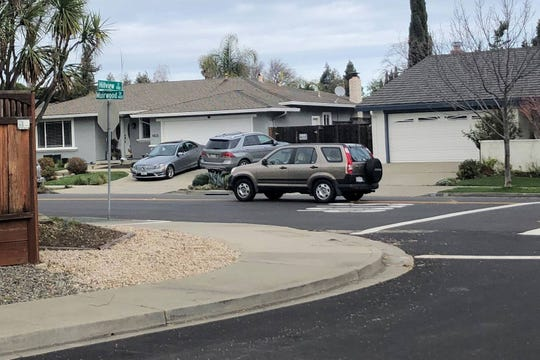 Suspects of the Feb. 8 bank robbery in Pleasanton are believed to have carjacked a brown Honda CRV and fled the scene.