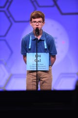 Cal Alexander, a student at Caddo Middle Magnet, participates in the Scripps National Spelling Bee.