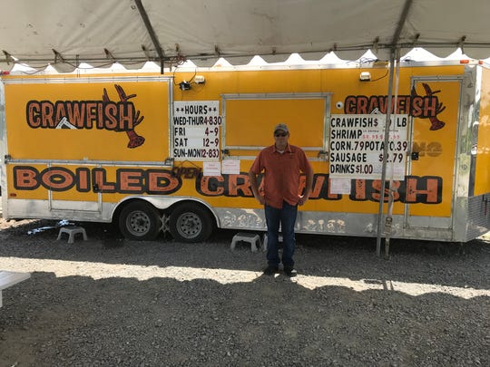 William Rice, general manager of Chuck Wagon Crawfish at Youree and Turtle Creek drives.