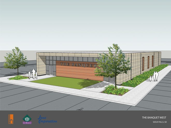 An architect's rendering of the new 7,000-square-foot The Banquet West location for the non-profit feeding ministry, located at 710 N. Marion Rd. in Sioux Falls.