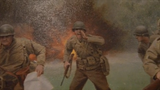 Larry Selman's painting recalls the battle for St. Lo in France, depicts the death of Maj. Thomas Howie. (Video prepared for 70th anniversary in 2014)