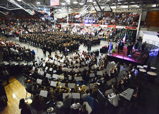 Halenbeck Hall at St. Cloud State University was almost full Tuesday night for the 2019 commencement of Sauk Rapids-Rice High School.