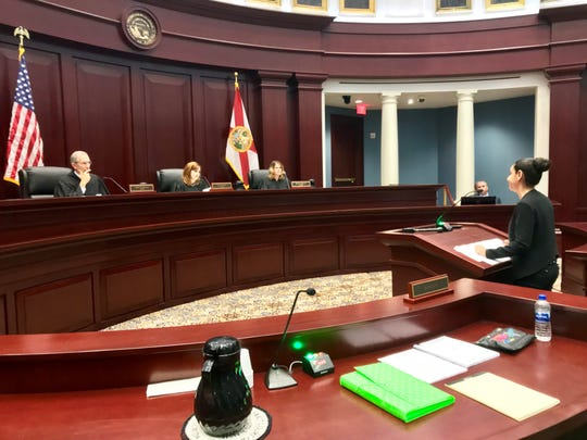 Kristen Kawass, an attorney for Kathering Magbanua, appears Wednesday, May 29, 2019 at the First District Court of Appeal in Tallahassee.