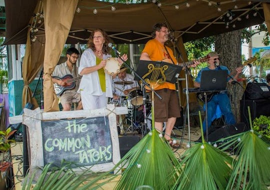 The Common Taters & the Turn-Ups playing at the All Saints Hop Yard in 2014.