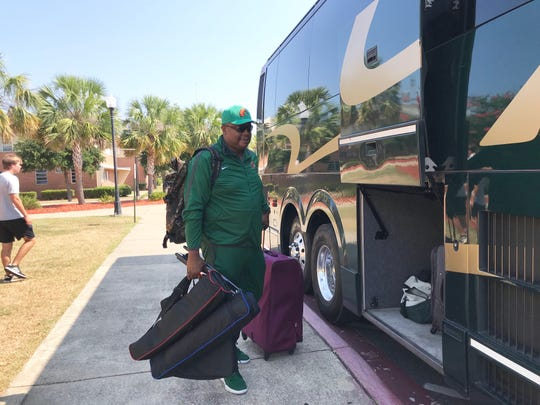 FAMU associate athletics director/executive producer of Rattler Productions Vaughn Wilson gets set for the trip to Atlanta. He will be providing coverage of the team in the NCAA tournament.