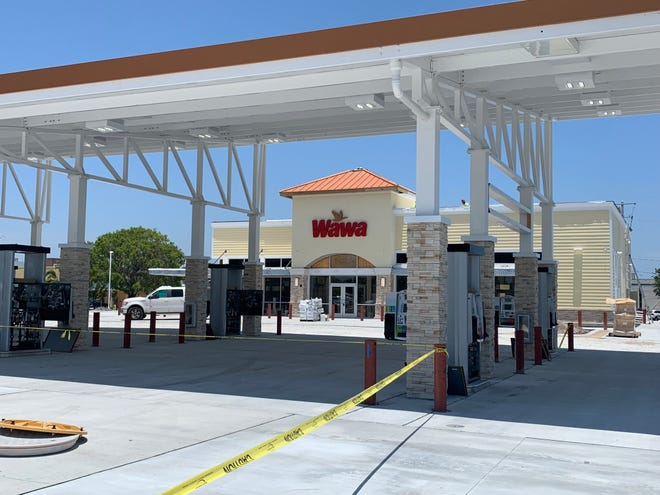 Construction of a new Wawa at U.S. 1 and Johnson Avenue in Stuart is nearly finished.