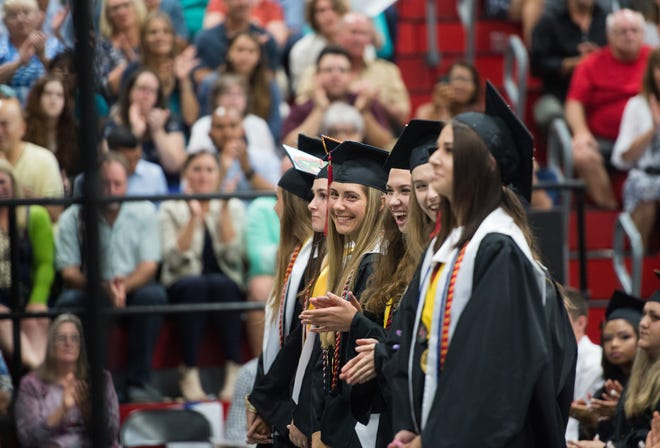 The South Fork High School graduation commencement ceremony is held Tuesday, May 28, 2019, at South Fork High School in Tropical Farms. If a proposed bill is passed into law next year, students in the district could be given two mental health days per year.