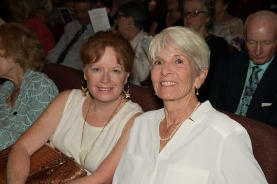 Suzy Feeney, left, and Jan Mooney at the 2019 Laurel Awards Celebration at Riverside Theatre.