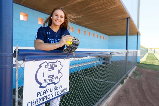 All-City softball player of the year Kristin Fifield, Chapin, Tuesday, May 28, at Chapin High School in El Paso.