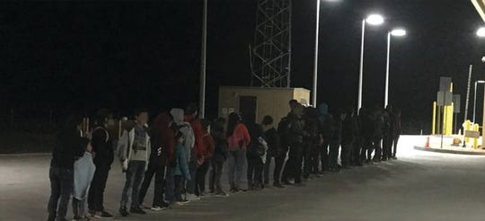 U.S. Border Patrol captured about 200 migrants at about 2 a.m. Monday near the Antelope Wells Port of Entry in the boot heel of New Mexico.