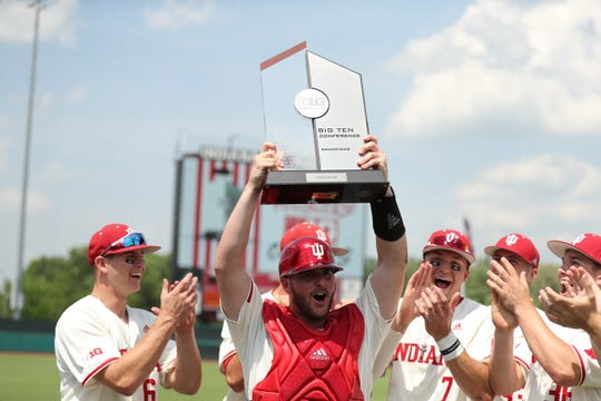 Agoura High graduate Ryan Fineman started 34 games at catcher to help the University of Indiana baseball team to the Big 10 Championship.