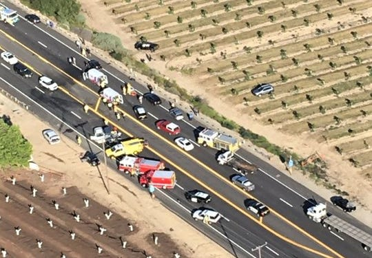 Five-vehicle crash near Fillmore leaves 11 injured