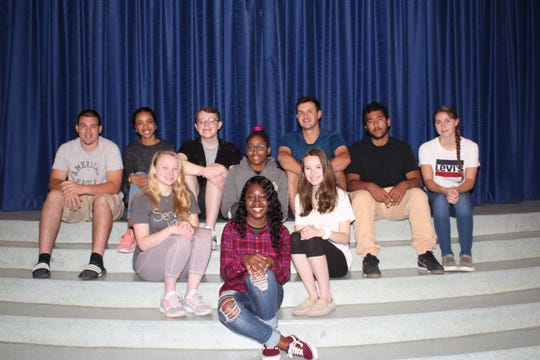 Millville High School's Students of the Month for April are: (First row) Annecia Williams; (second row, from left) Abigail Sedeyn, Mya Ritch and Calli Sipin; and (third row, from left) Kevin Tirelli, Kyla Kemp, Aaron Benfer, Timothy Wright, Kevin Reyes and Jerica Hudson.