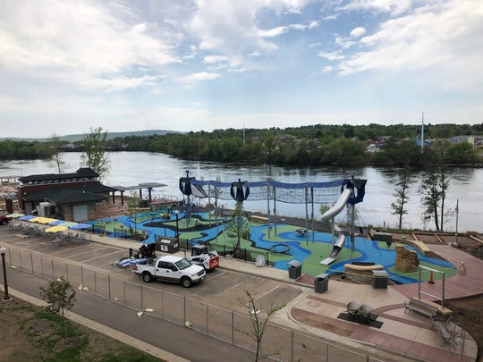 A view of the Riverlife Park, which is expected to open early this summer.