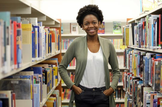 North Rockland senior Changu Chiimbwe, winner of the Rockland County Law Day Essay Contest and Catherine Miklitsch Scholarship, at Haverstraw King's Daughters Public Library May 29, 2019 in Garnerville. Chiimbwe, 17, will be attending Columbia University.