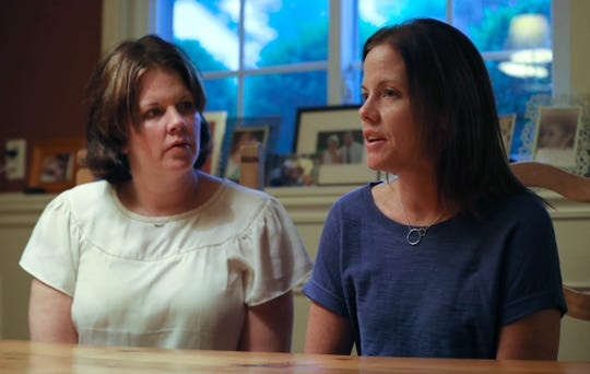 Kristen Glynn, left, and her sister, Meghan Scholl, recall their brother, Jimmy McNicholas, at Glynn's Valley Cottage home May 29, 2019. McNicholas was killed by a hit and run driver ten years ago.