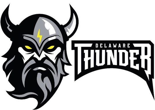 The Delaware Thunder's official logo. The logo was designed by former UD goalkeeper Nick Matarese.
