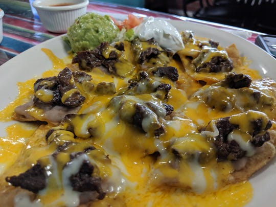 The fajita nachos at La Familia Mexican Restaurant.