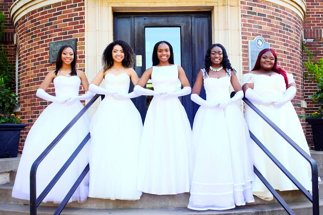 Among those honored June 1 at the Kemp Center for Arts The Progressive Women's Club Debutante Presentation were: Left to right: Tenera Williams,Kayleigh Williams, Jailyn Bryant, Idriana Williams, Alize' Greer