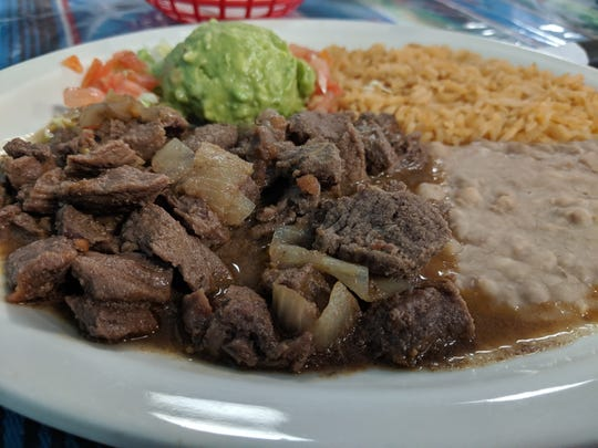 The carne guisada at La Familia Mexican Restaurant.