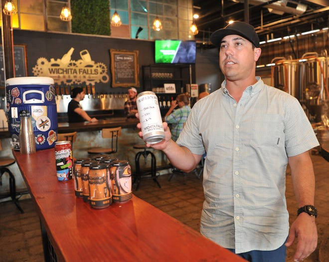 Wichita Falls Brewery co-owner, Matt Bitsche talks about Odd Duck flavored beverage, one of the brewery's favorite beers.