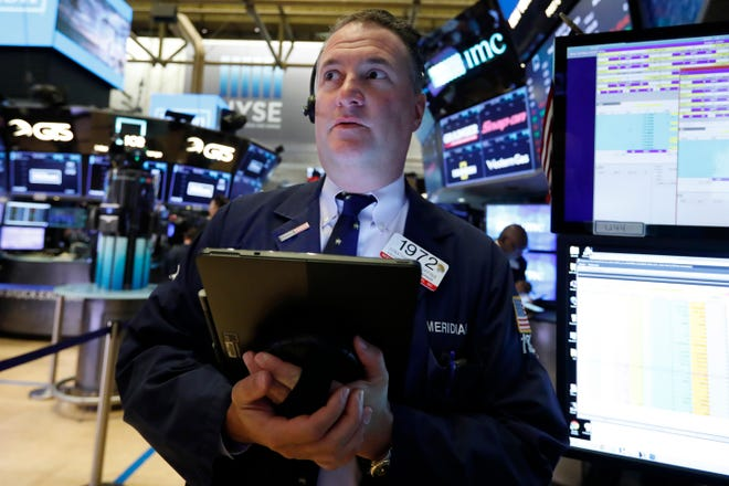 Trader Jonathan Corpina works on the floor of the New York Stock Exchange, Wednesday, May 29, 2019.