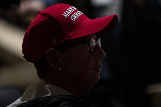A supporter of President Donald Trump at a town hall in Grand Rapids, Michigan, on May 28, 2019.