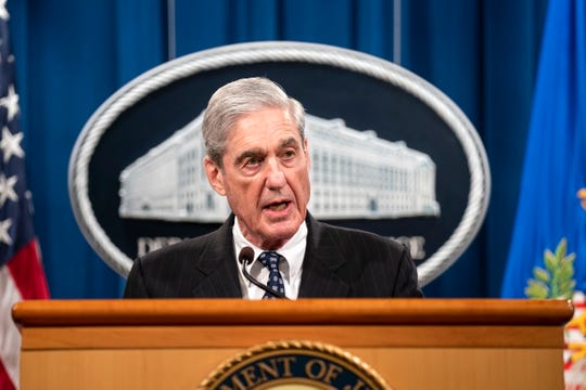 Special counsel Robert Mueller speaks on May 29, 2019.