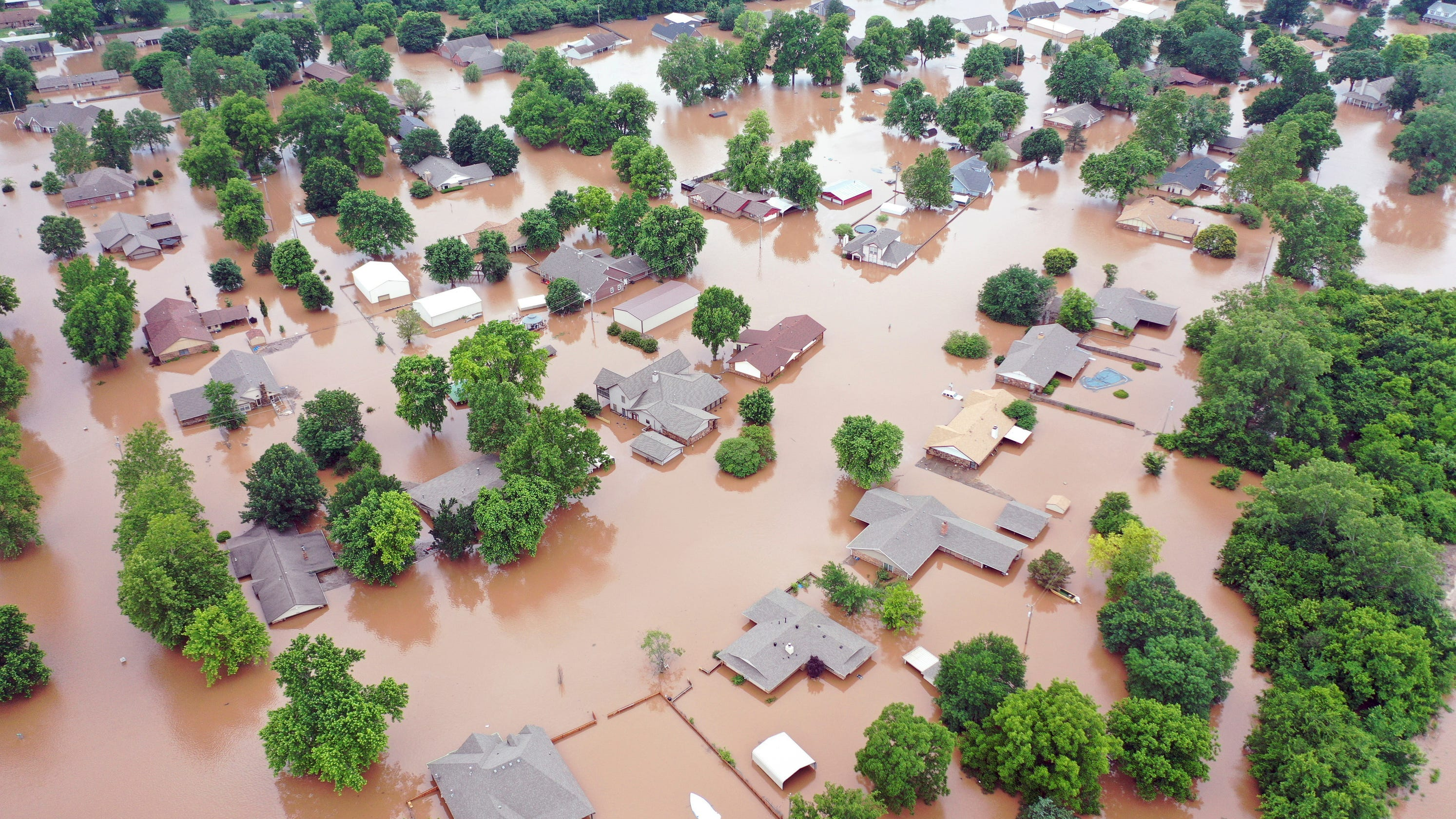 The Latest: Private lake dam in Oklahoma City endangered ... |Oklahoma Flooding
