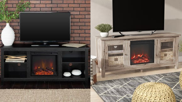 Make your living room toasty warm with this TV stand.