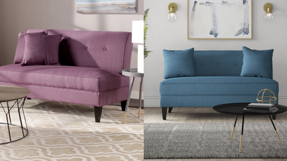 This loveseat is the perfect size for cuddling.