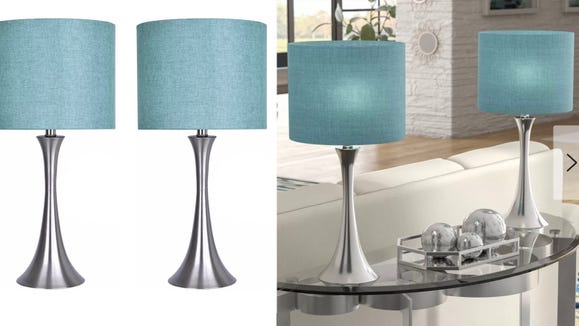 These turquoise table lamps will bring the ocean to your bedroom.