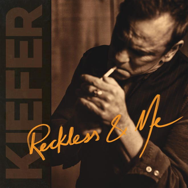 "The cover of Kiefer Sutherland's new album, ""Reckless and Me."""