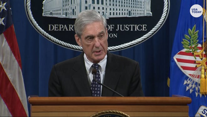 """Special counsel Robert Mueller said May 29 that charging President Donald Trump with obstruction of justice was """"not an option"""" because of Justice Department policy against prosecuting a sitting president."""