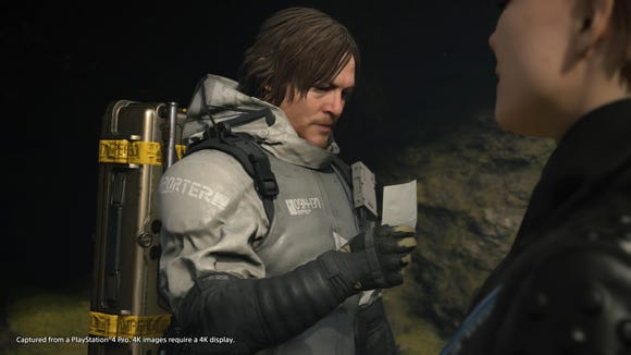 Actor Norman Reedus stars as the character Sam Porter Bridges in the upcoming sci-fi action game 'Death Stranding' for PlayStation 4, out Nov. 8, 2019.