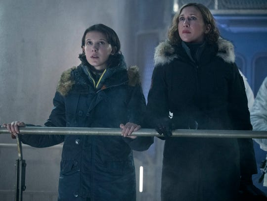 "Monarch scientist Emma Russell (Vera Farmiga, right, with Millie Bobby Brown) makes a big misstep in man-monster relations in the new ""Godzilla"" sequel."