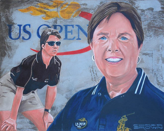 Marie Gagnard's official Louisiana Sports Hall of Fame portrait.