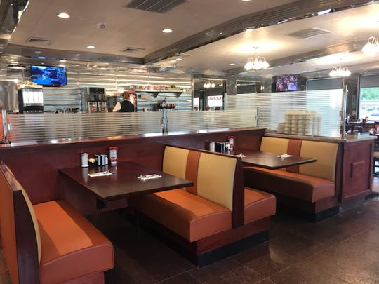 The dining room of the newly reopened Toms River Diner.